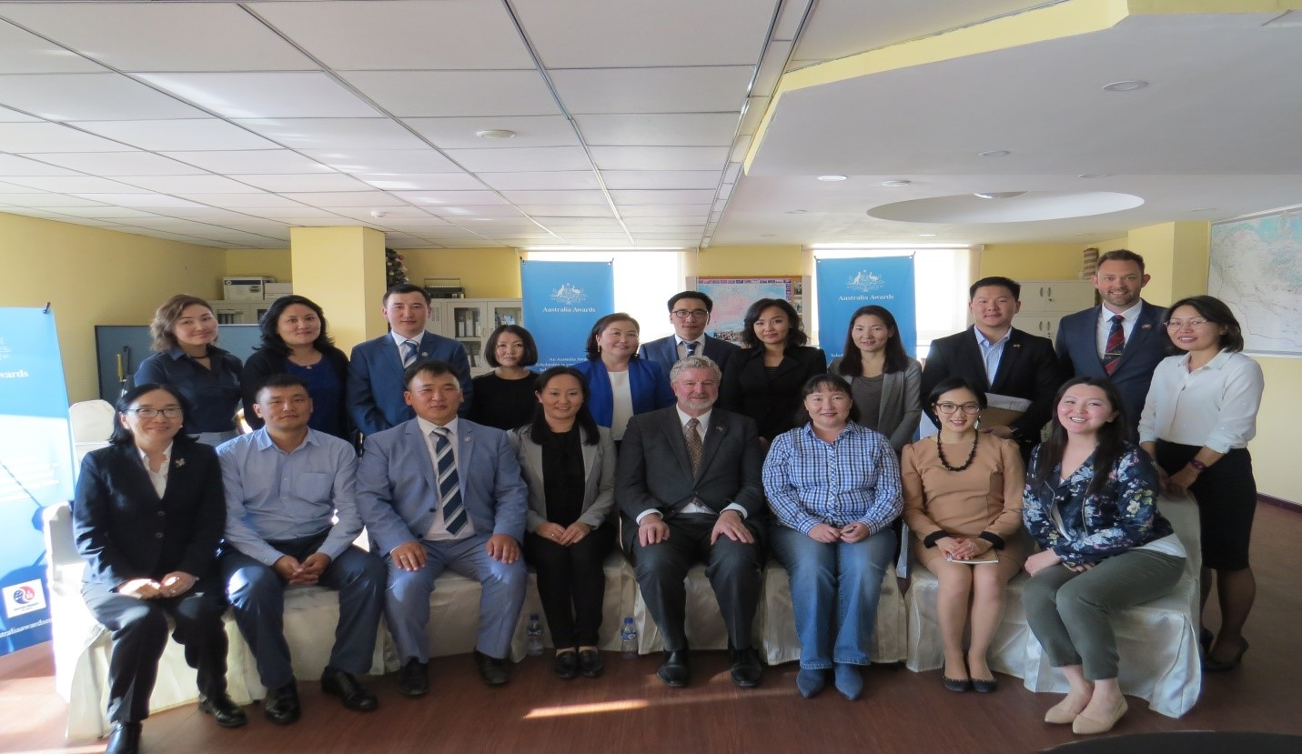 Thirteen graduates who completed their Master's degree at Australian Universities in 2017 1st Semester attended a Welcome Back event in September 2017 together with their employers' representatives from Mongolian University of Science and Technology and MCS International private company.